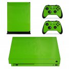 Light Green Carbon Fiber xbox one X skin decal for console and 2 controllers