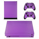 Violet Carbon Fiber xbox one X skin decal for console and 2 controllers
