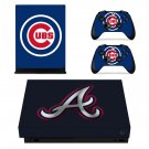 Chicago Cubs Logo xbox one X skin decal for console and 2 controllers