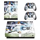 Cristiano Ronaldo Football Soccer Star xbox one X skin decal for console and 2 controllers