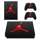Michael jordan Logo xbox one X skin decal for console and 2 controllers