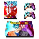 Dragon Ball Z Super xbox one X skin decal for console and 2 controllers