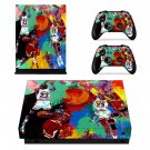 Leroy Neiman Michael Jordan Painting xbox one X skin decal for console and 2 controllers