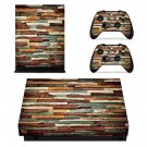 Multicolor Stone Wall xbox one X skin decal for console and 2 controllers