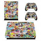 Eat sleep jdm domo xbox one X skin decal for console and 2 controllers