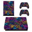 Retro Robots xbox one X skin decal for console and 2 controllers