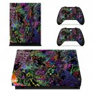Trippy Walpaper xbox one X skin decal for console and 2 controllers