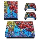 Retro Robots Graffiti xbox one X skin decal for console and 2 controllers