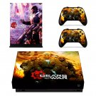Gears of war xbox one X skin decal for console and 2 controllers