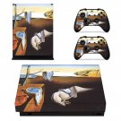 The Persistence of Memory  xbox one X skin decal for console and 2 controllers