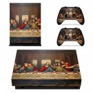 Jesus christ last supper painting xbox one X skin decal for console and 2 controllers