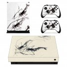 Watercolor Painting xbox one X skin decal for console and 2 controllers