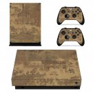 Along the River During the Qingming Festival xbox one X skin decal for console and 2 controllers