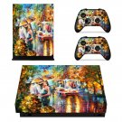 Kiss of Passion  xbox one X skin decal for console and 2 controllers