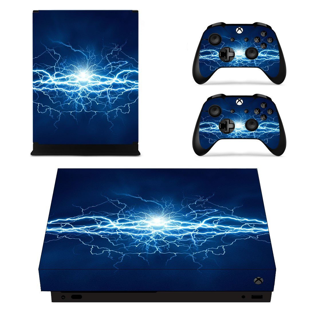 Electric Lightning sky xbox one X skin decal for console and 2 controllers