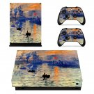 Famous oil painting xbox one X skin decal for console and 2 controllers