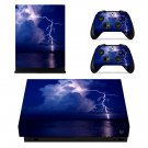 Lightning sky xbox one X skin decal for console and 2 controllers