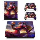 Asuka D.va skin decal for Xbox one X console and controllers