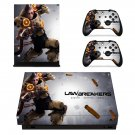LawBreakers skin decal for Xbox one X console and controllers