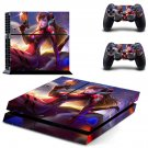 Asuka D.va decal for PS4 PlayStation 4 console and 2 controllers