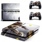 LawBreakers decal for PS4 PlayStation 4 console and 2 controllers