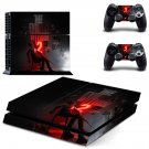 The Evil Within 2 decal for PS4 PlayStation 4 console and 2 controllers