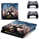 Warframe plains of eidolon decal for PS4 PlayStation 4 console and 2 controllers