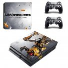 LawBreakers ps4 pro skin decal for console and controllers