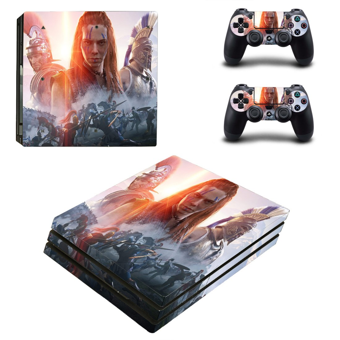 Total war arena boudicca ps4 pro skin decal for console and controllers