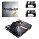 LawBreakers ps4 slim skin decal for console and controllers