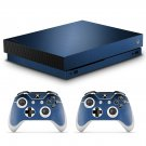 Custom Dark Blue skin decal for Xbox one X console and controllers