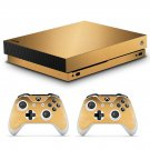 Wooden skin decal for Xbox one X console and controllers