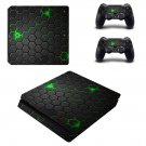 Hexagon Pattern Bee hive ps4 slim skin decal for console and controllers