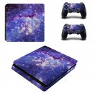 Galaxy with Stars ps4 slim skin decal for console and controllers