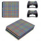 Colorful line texture ps4 pro skin decal for console and controllers