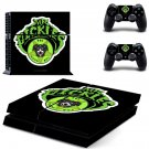 Mr Pickles decal for PS4 PlayStation 4 console and 2 controllers
