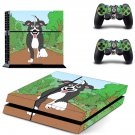 Good boy Mr pickles decal for PS4 PlayStation 4 console and 2 controllers