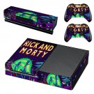 Rick and Morty skin decal for Xbox one console and controllers