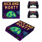 Rick and Morty ps4 slim skin decal for console and controllers