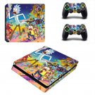 Mad Max Rick and Morty ps4 slim skin decal for console and controllers