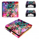 Rick and Morty fan art ps4 slim skin decal for console and controllers