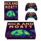 Rick and Morty skin decal for Xbox one X console and controllers