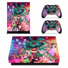 Rick and Morty fan art skin decal for Xbox one X console and controllers