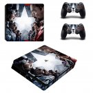 Captain America Civil War ps4 slim skin decal for console and controllers