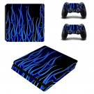 Blue Flame ps4 slim skin decal for console and controllers