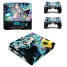 Hatsune Miku Project DIVA ps4 slim skin decal for console and controllers