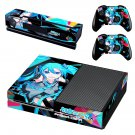 Hatsune Miku Project DIVA skin decal for Xbox one console and controllers