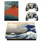 Sea wave Xbox one X  skin decal for console and controllers