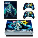 Hatsune Miku Project DIVA skin decal for Xbox one X console and controllers