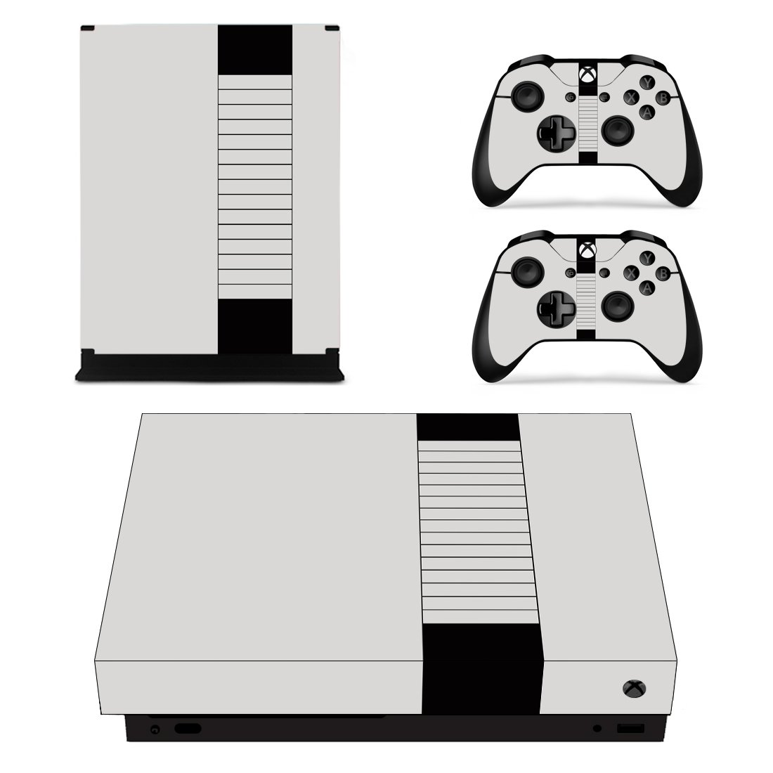 Classic design skin decal for Xbox one X console and controllers